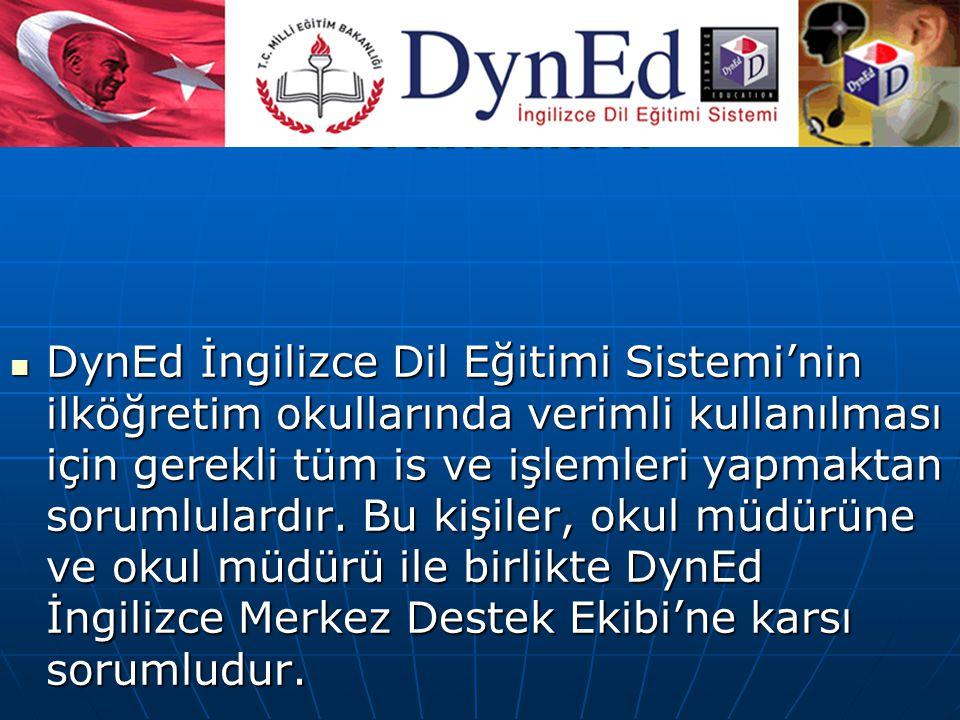 DynEd İngilizce Okul Sorumluları: