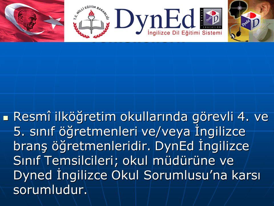 DynEd İngilizce Sınıf Temsilcileri: