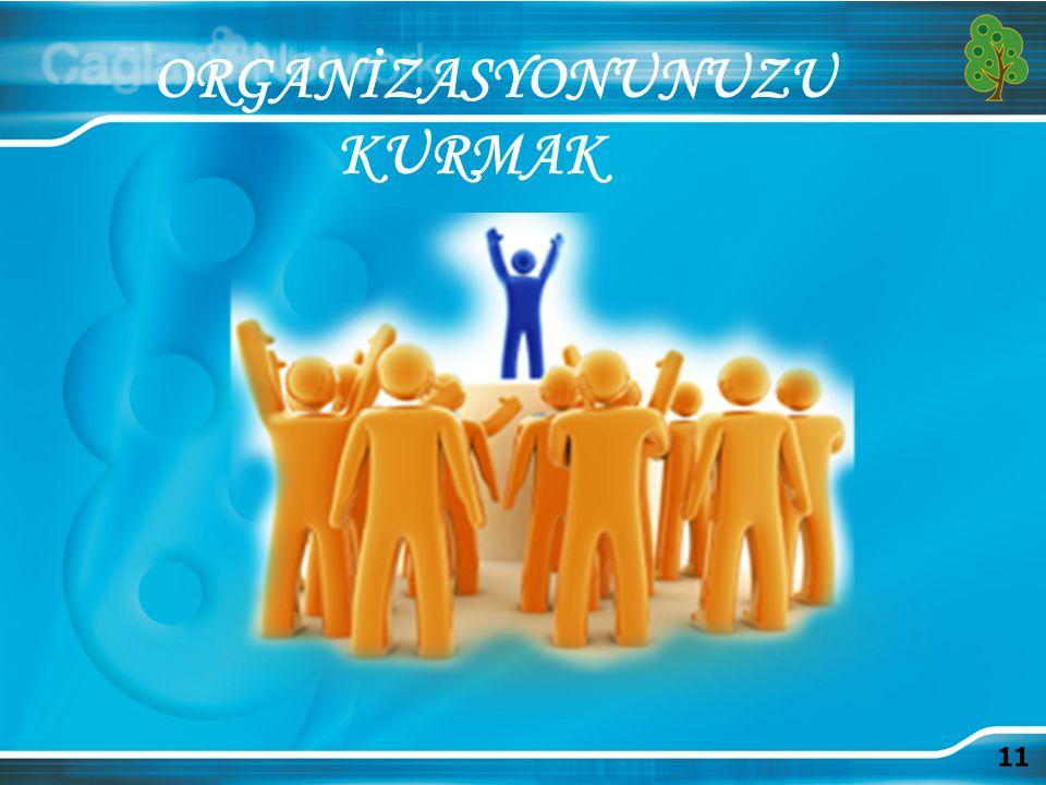 ORGANİZASYONUNUZU KURMAK 11 11