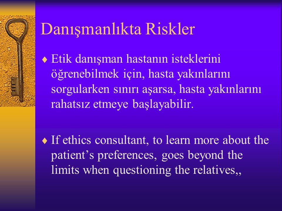 Danışmanlıkta Riskler