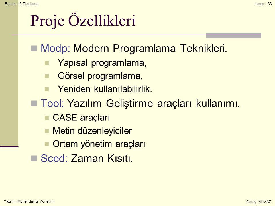 Proje Özellikleri Modp: Modern Programlama Teknikleri.
