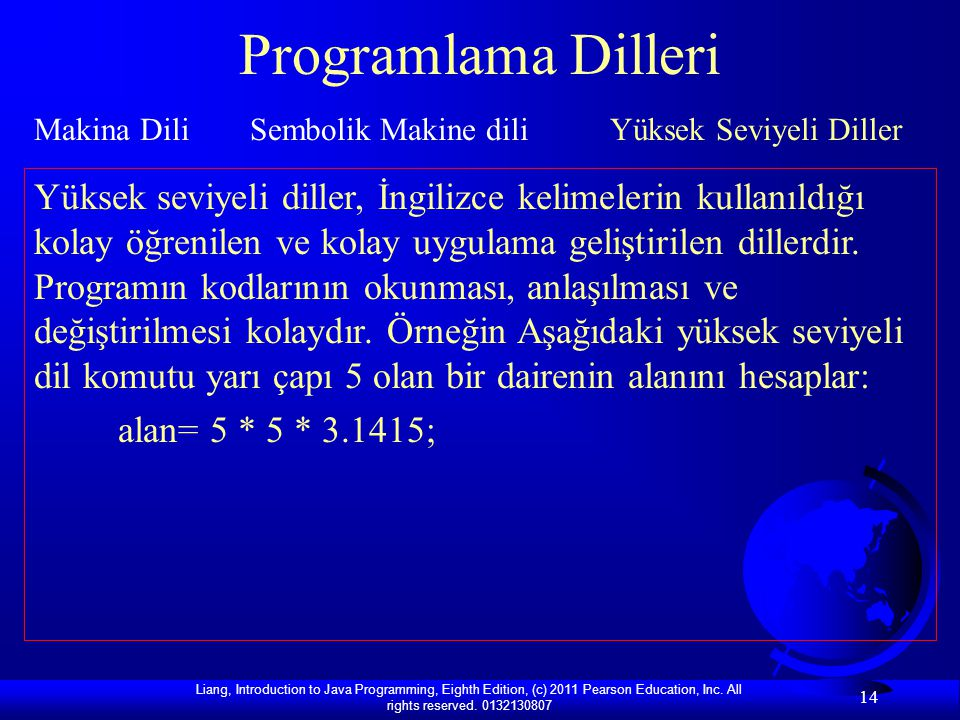 Programlama Dilleri Makina Dili Sembolik Makine dili Yüksek Seviyeli Diller.