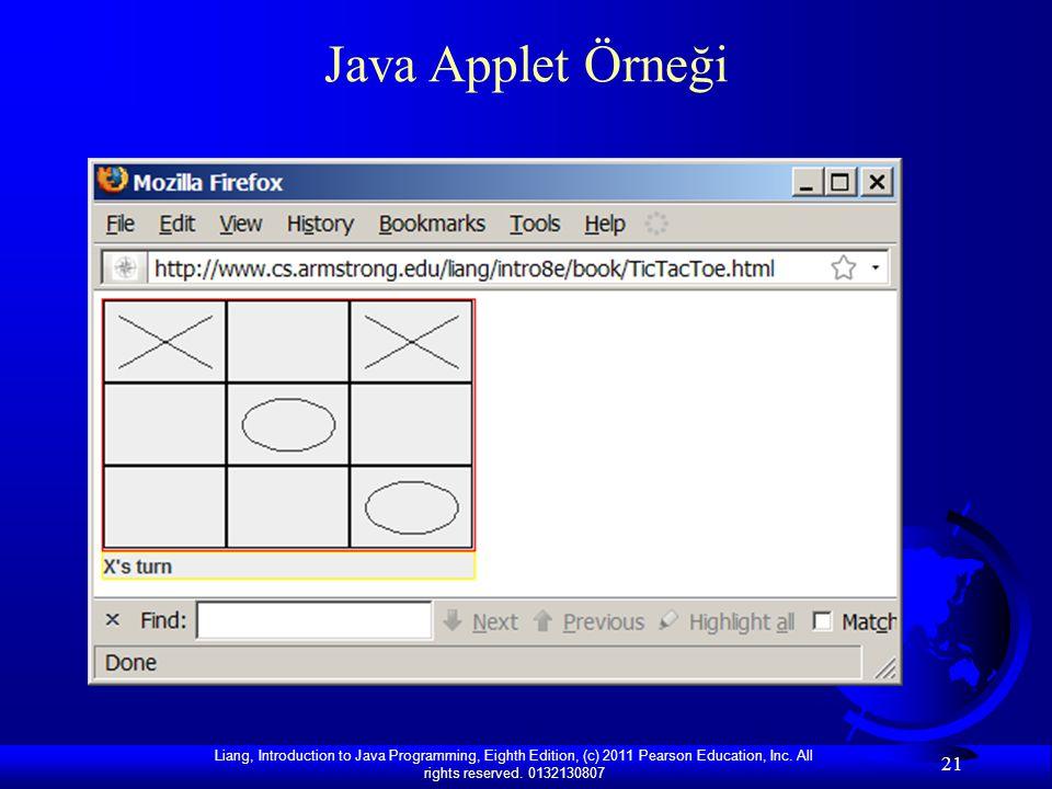 Java Applet Örneği