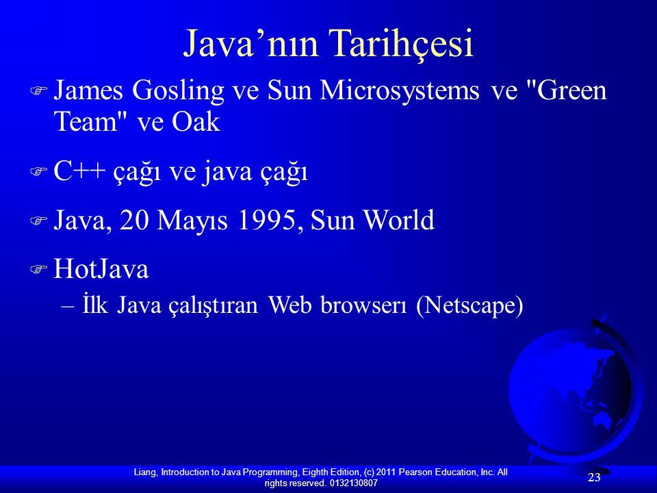 Java'nın Tarihçesi James Gosling ve Sun Microsystems ve Green Team ve Oak. C++ çağı ve java çağı.