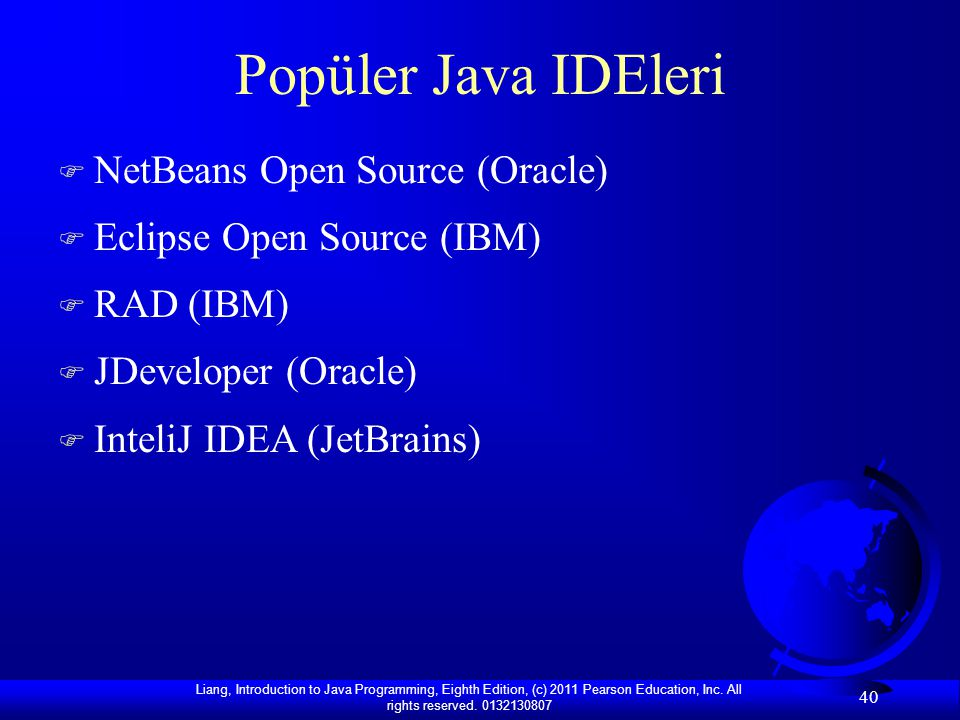Popüler Java IDEleri NetBeans Open Source (Oracle)