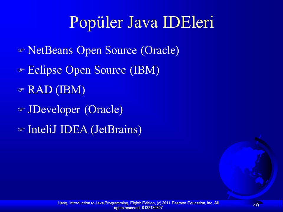 Popüler Java IDEleri NetBeans Open Source (Oracle)