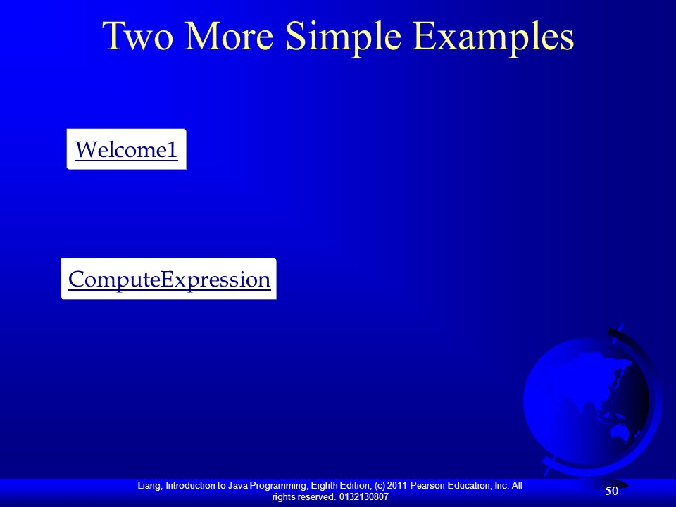 Two More Simple Examples