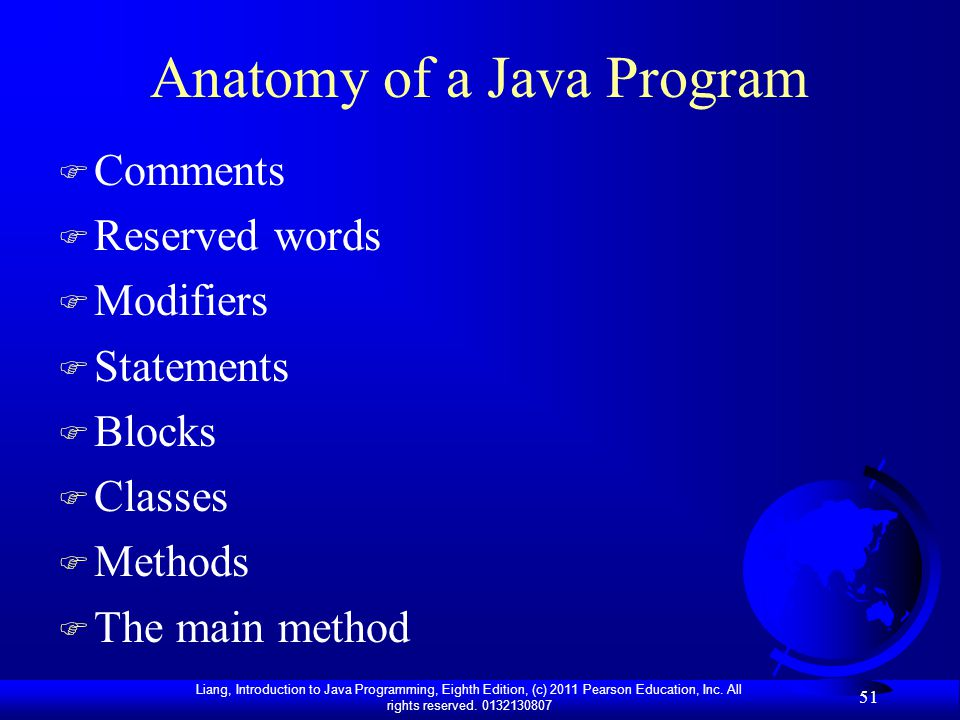 Anatomy of a Java Program