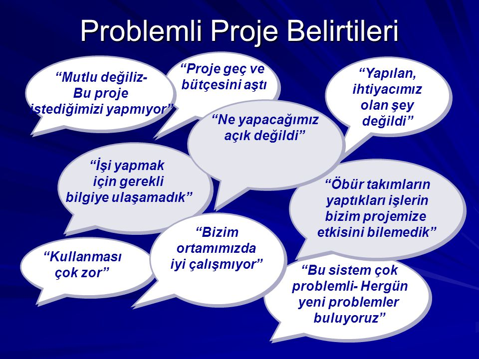 Problemli Proje Belirtileri