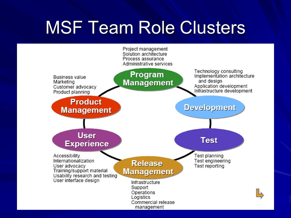 MSF Team Role Clusters