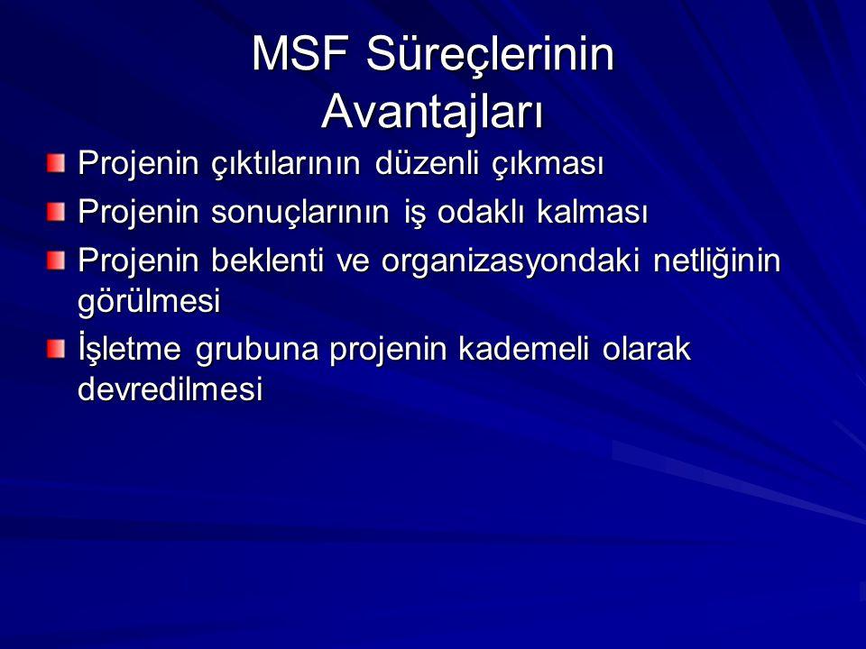 MSF Süreçlerinin Avantajları
