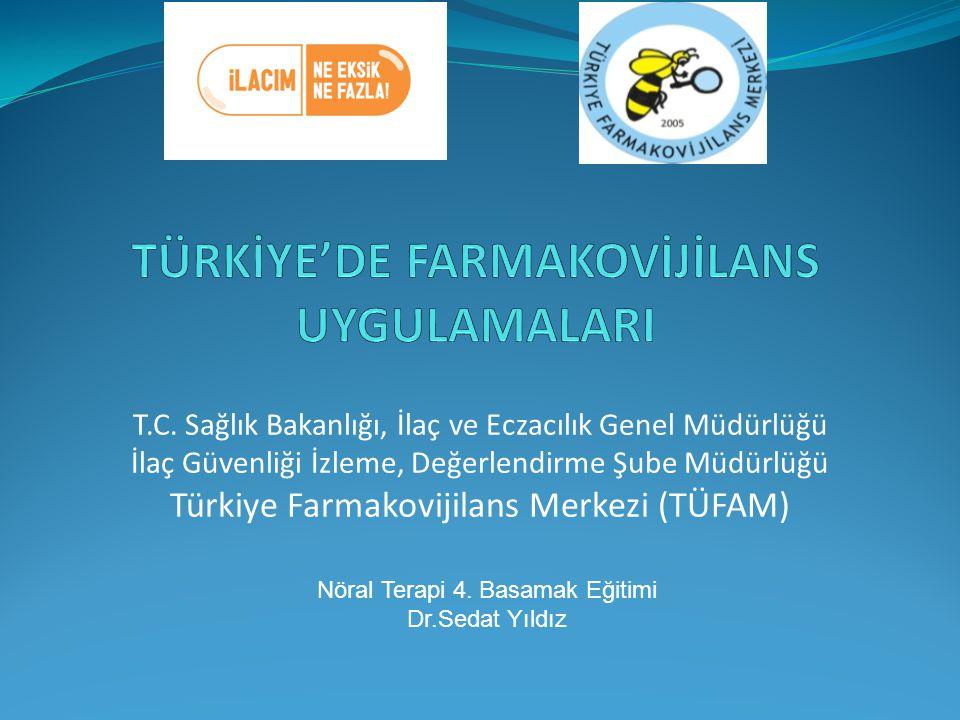 TÜRKİYE'DE FARMAKOVİJİLANS UYGULAMALARI
