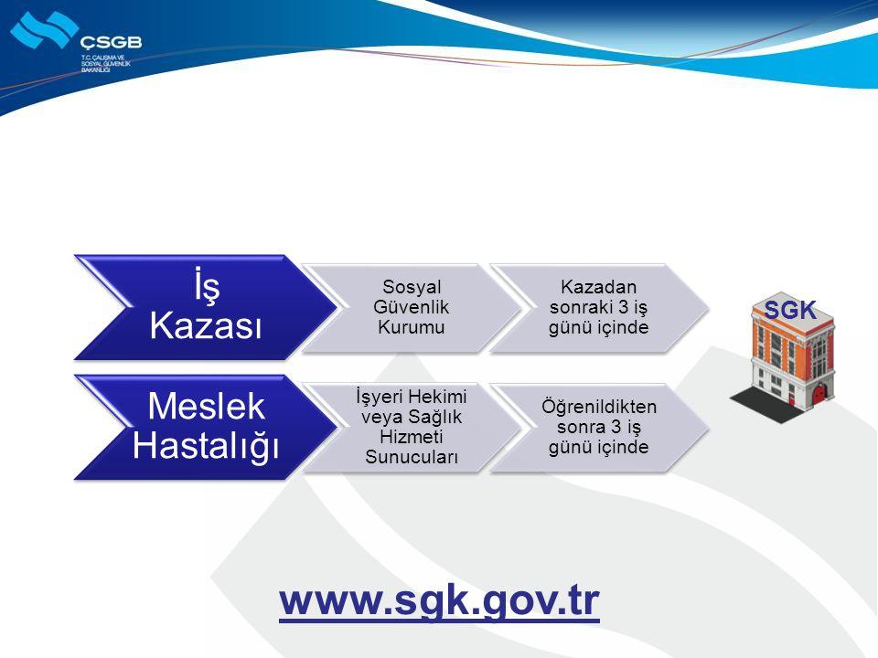 www.sgk.gov.tr İş Kazası Meslek Hastalığı SGK Sosyal Güvenlik Kurumu