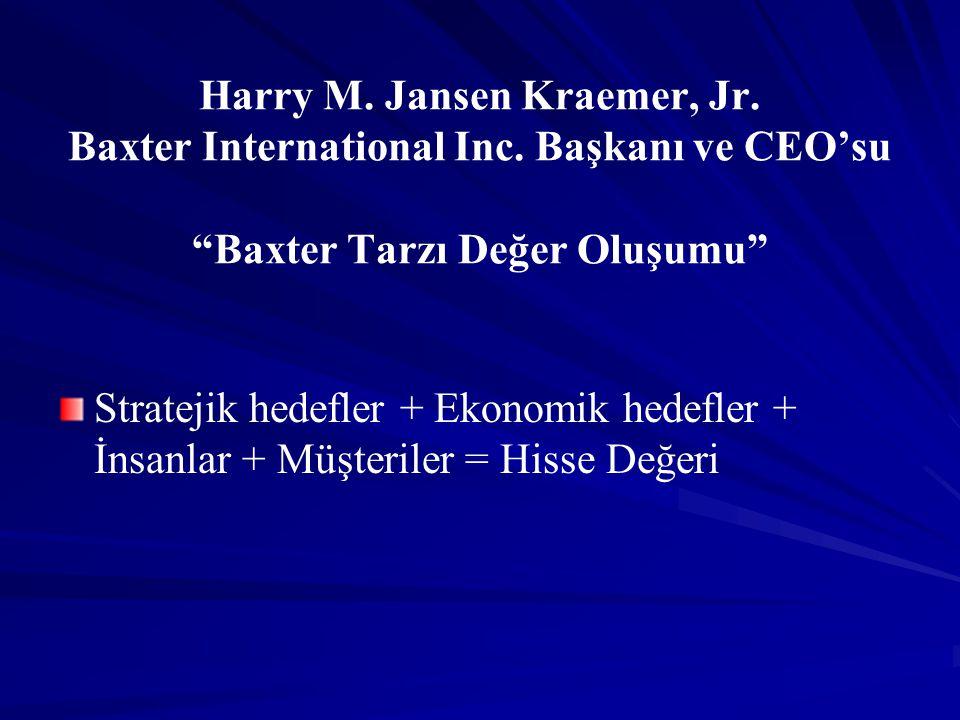 Harry M. Jansen Kraemer, Jr. Baxter International Inc