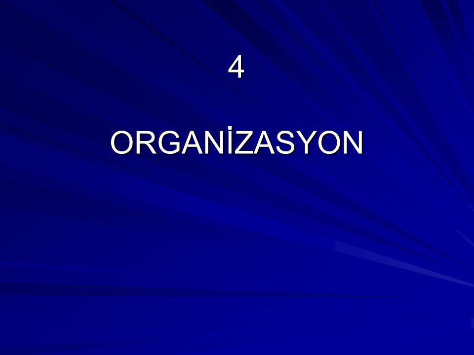 4 ORGANİZASYON