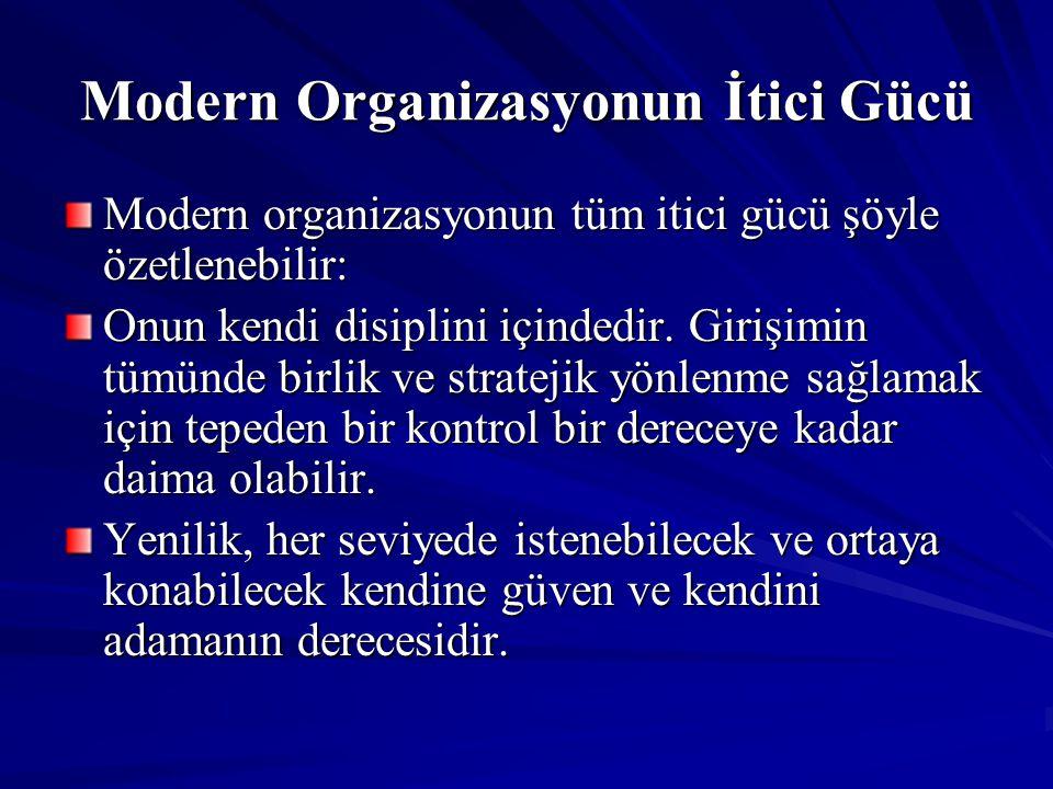 Modern Organizasyonun İtici Gücü