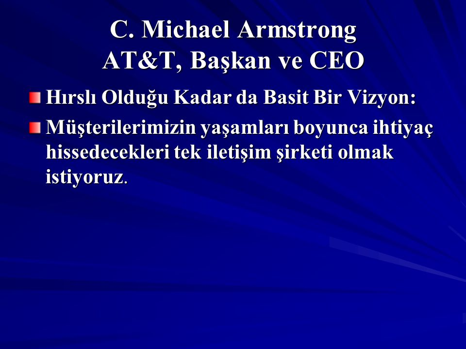 C. Michael Armstrong AT&T, Başkan ve CEO