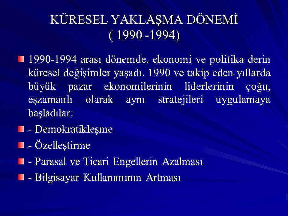 KÜRESEL YAKLAŞMA DÖNEMİ ( 1990 -1994)