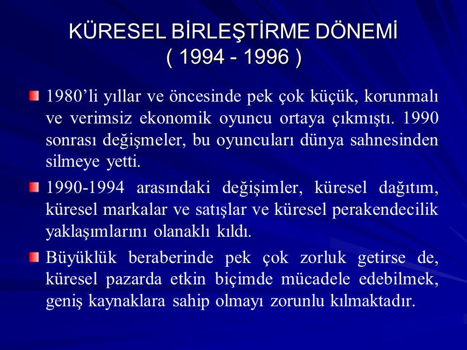 KÜRESEL BİRLEŞTİRME DÖNEMİ ( 1994 - 1996 )