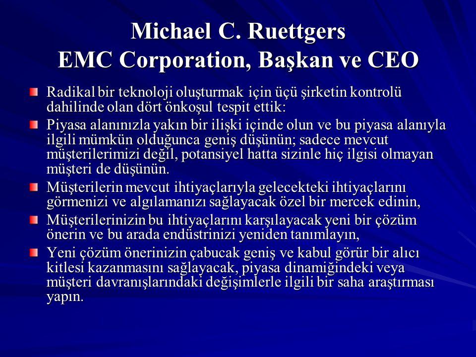 Michael C. Ruettgers EMC Corporation, Başkan ve CEO