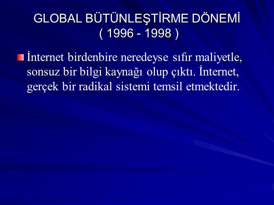 GLOBAL BÜTÜNLEŞTİRME DÖNEMİ ( 1996 - 1998 )