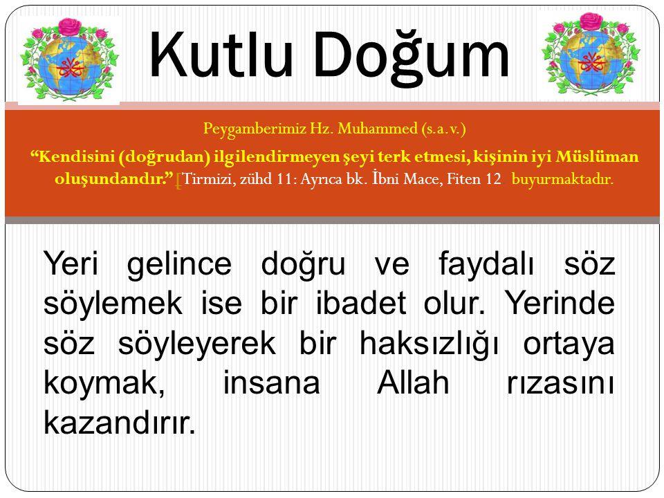 Peygamberimiz Hz. Muhammed (s.a.v.)