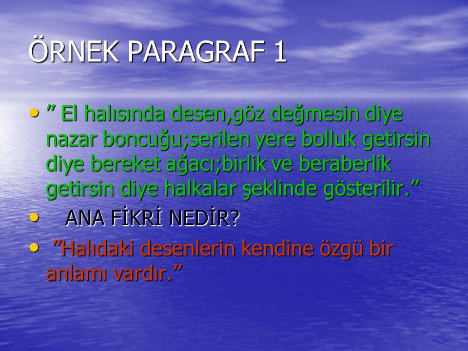 ÖRNEK PARAGRAF 1