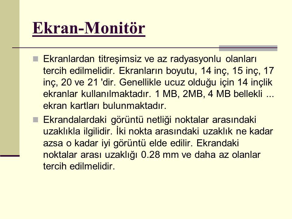 Ekran-Monitör