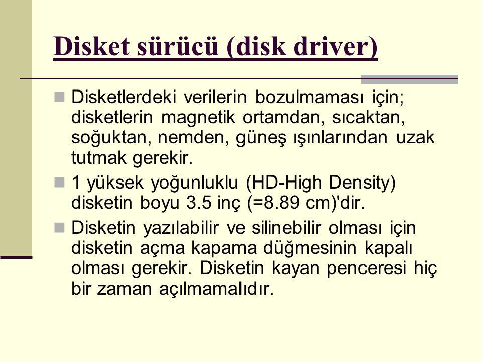 Disket sürücü (disk driver)
