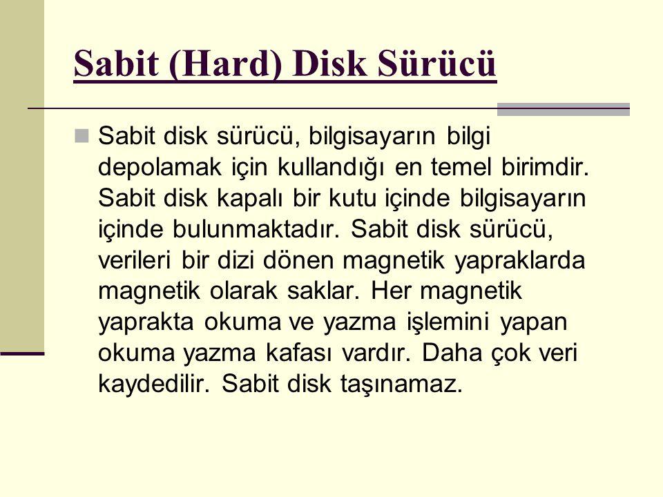 Sabit (Hard) Disk Sürücü