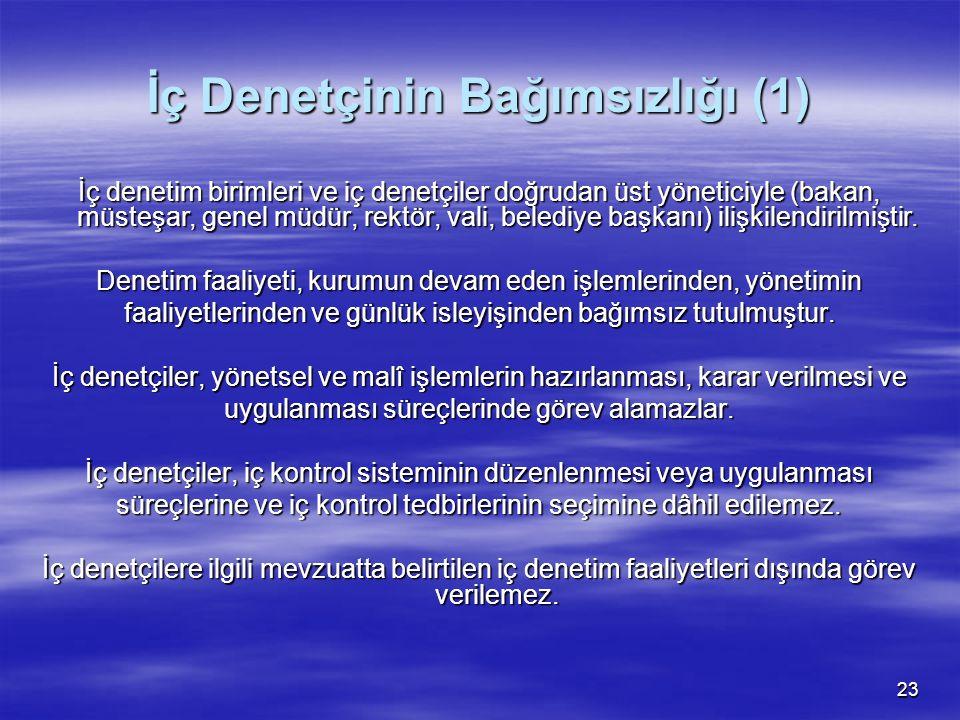 İç Denetçinin Bağımsızlığı (1)