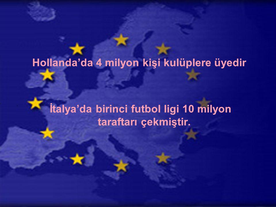 Hollanda'da 4 milyon kişi kulüplere üyedir