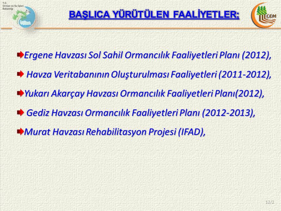 Ergene Havzası Sol Sahil Ormancılık Faaliyetleri Planı (2012),