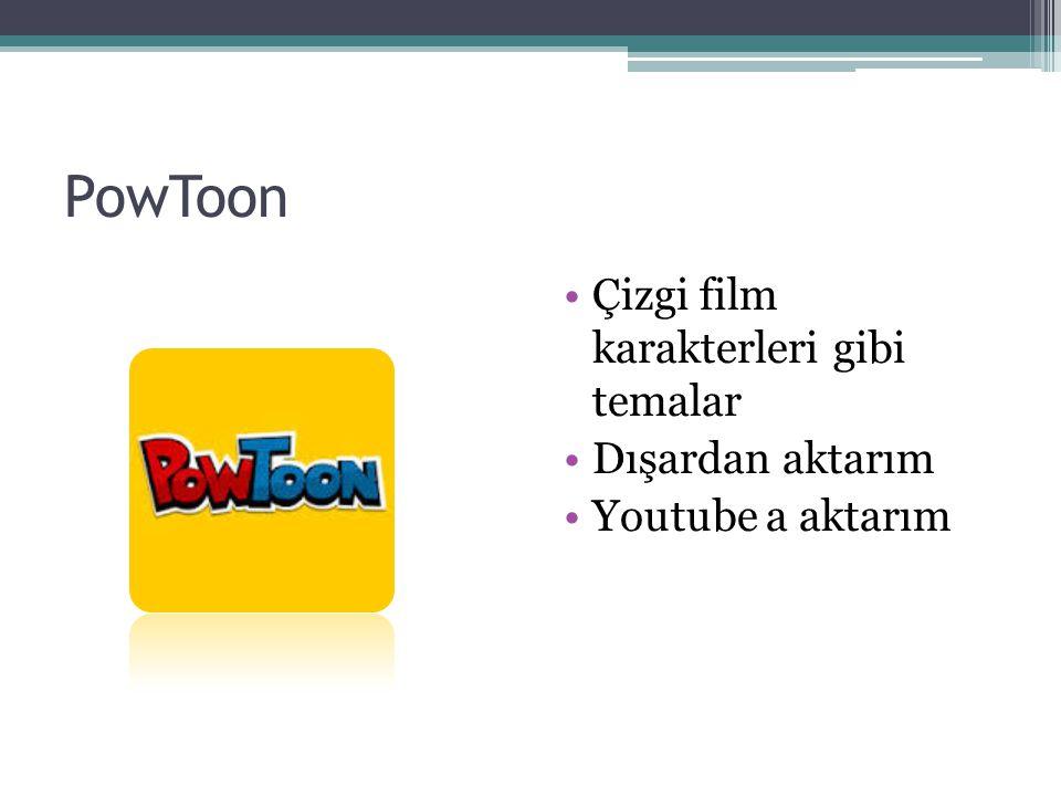 PowToon Çizgi film karakterleri gibi temalar Dışardan aktarım