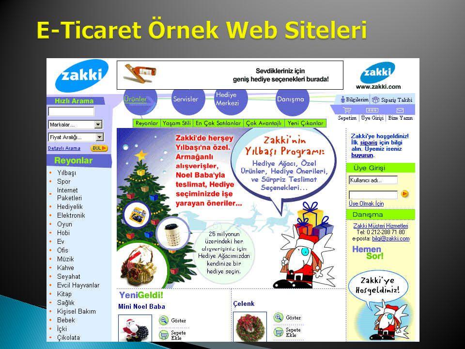 E-Ticaret Örnek Web Siteleri