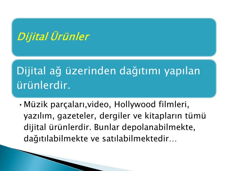 Dijital ağ üzerinden dağıtımı yapılan ürünlerdir.