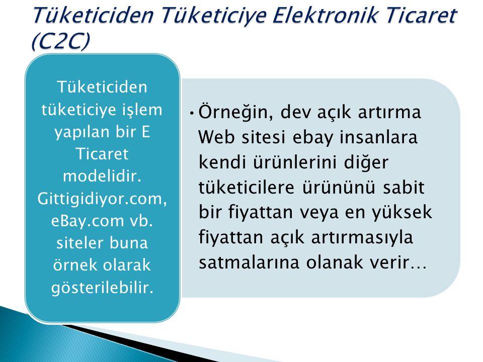 Tüketiciden Tüketiciye Elektronik Ticaret (C2C)