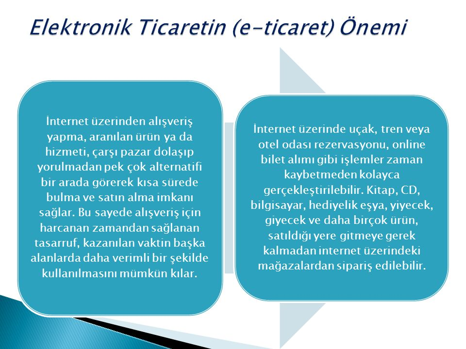 Elektronik Ticaretin (e-ticaret) Önemi