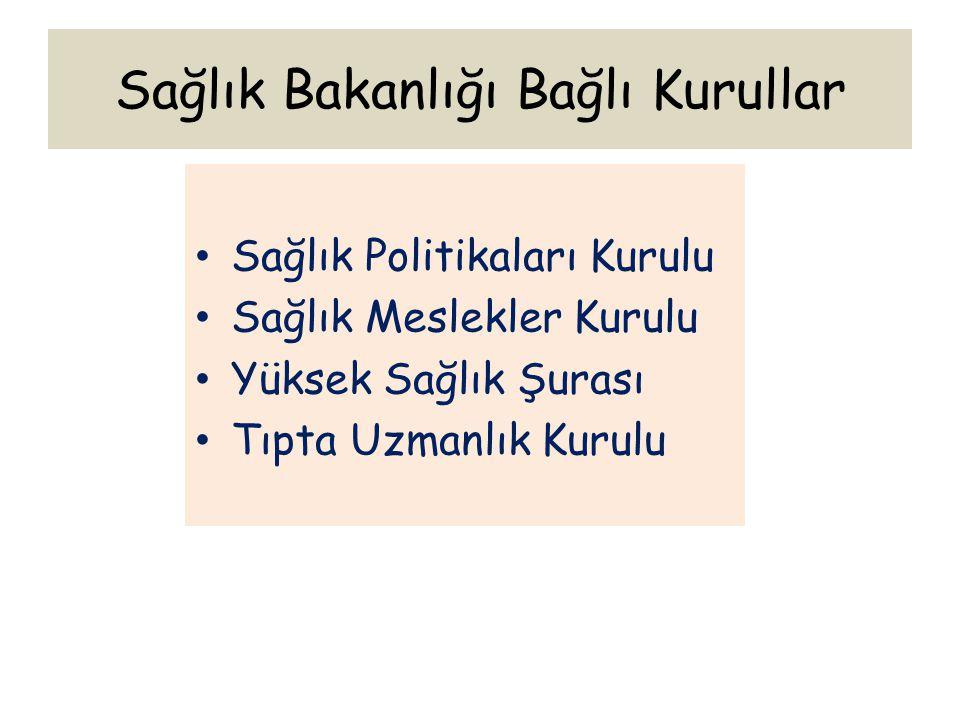 Sağlık Bakanlığı Bağlı Kurullar