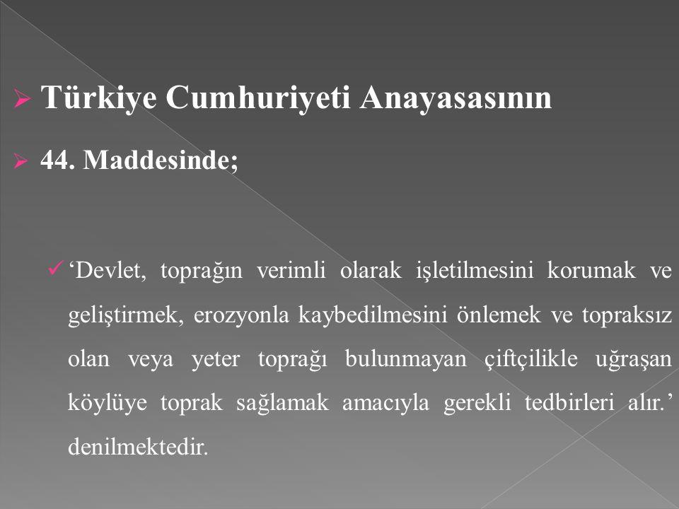 Türkiye Cumhuriyeti Anayasasının