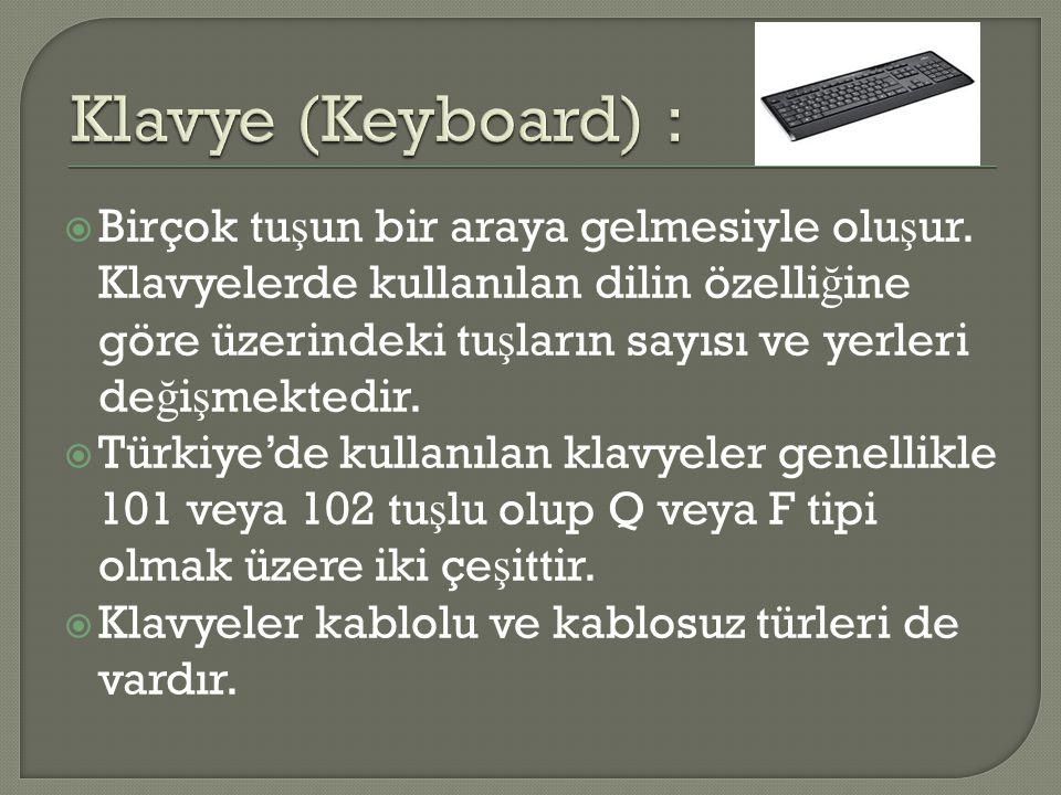 Klavye (Keyboard) :