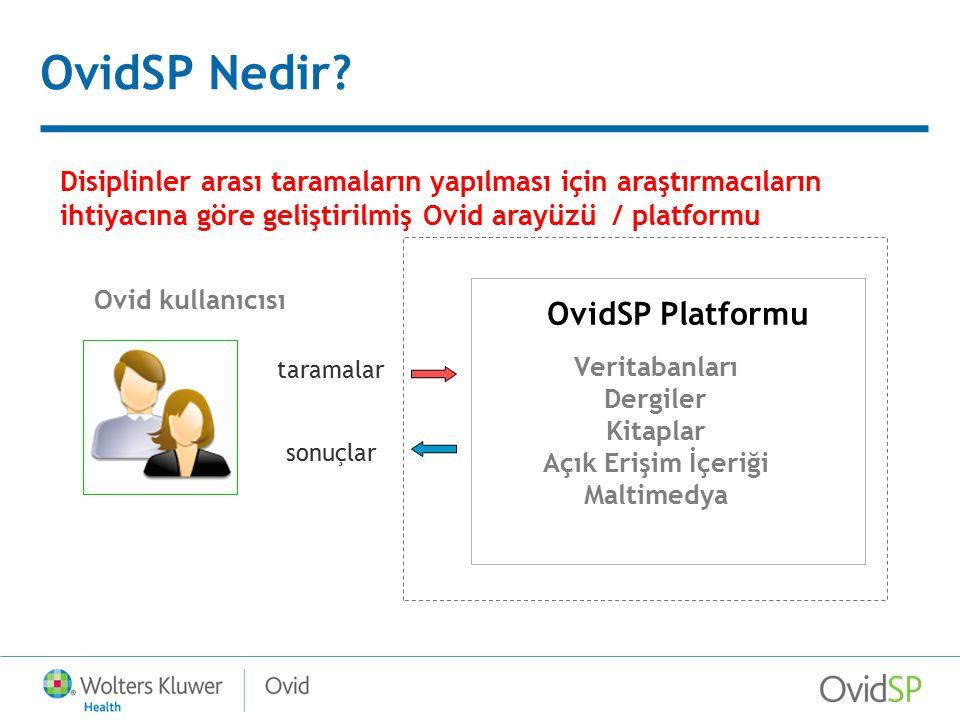 OvidSP Nedir OvidSP Platformu