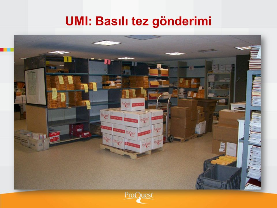UMI: Basılı tez gönderimi