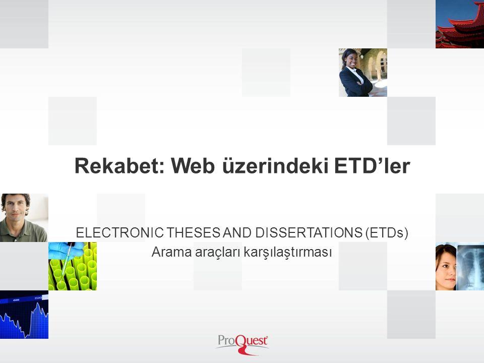 Rekabet: Web üzerindeki ETD'ler