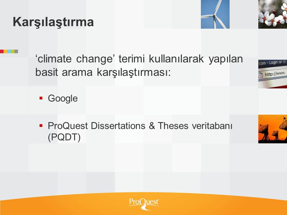 Karşılaştırma 'climate change' terimi kullanılarak yapılan basit arama karşılaştırması: Google.