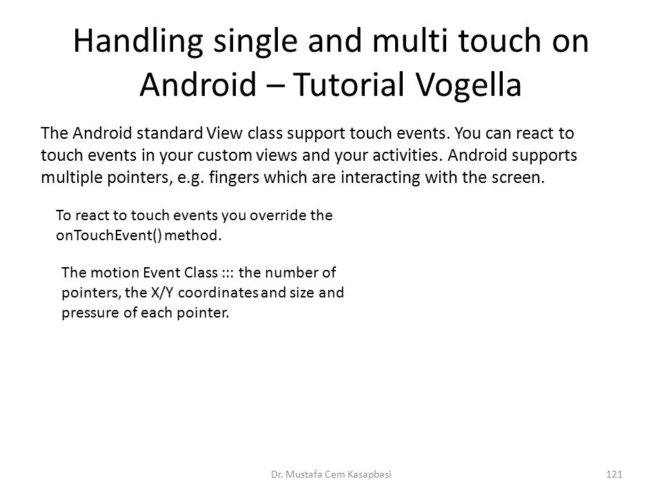 Handling single and multi touch on Android – Tutorial Vogella