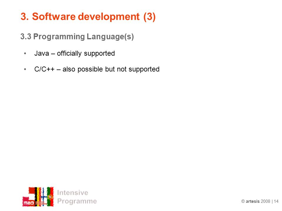 3. Software development (3)