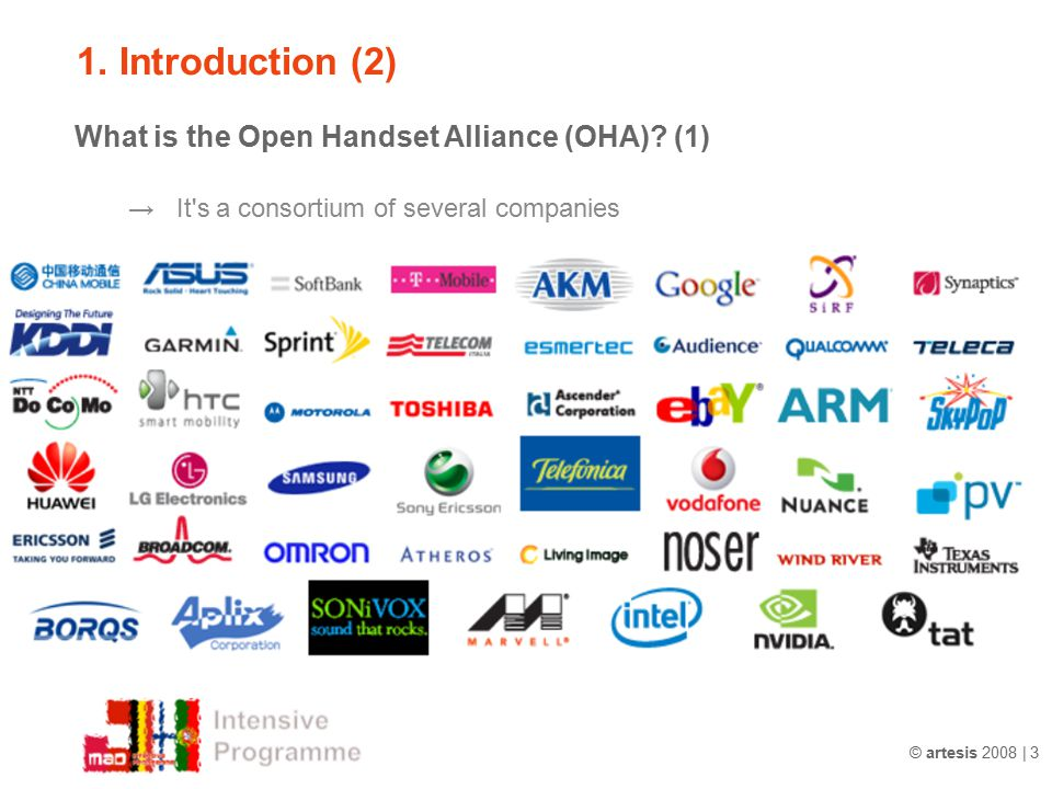 1. Introduction (2) → It s a consortium of several companies