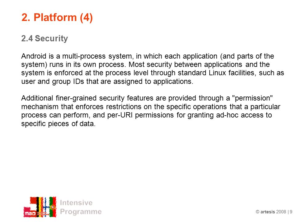 2. Platform (4) 2.4 Security