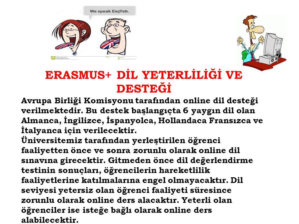 ERASMUS+ DİL YETERLİLİĞİ VE DESTEĞİ
